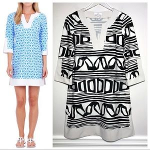 Jude Connally Holly Dress In Black And White Print